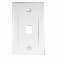 Single Port Decora Style Wall Plate for Keystone Jacks, White