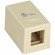 Single Port Empty Surface Mount Box - Ivory