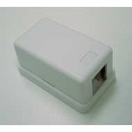 Single Port Empty Surface Mount Box - White