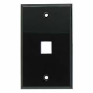 Single Port Smooth Faced Wall Plate for Keystone Jacks, Black