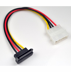 Standard Molex to Left Angle SATA Power Adapter