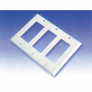 Triple Gang Decora Wall Plate Blank, White