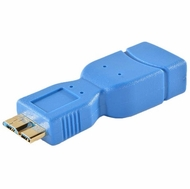 USB 3.0 Adapter Type A Female / Micro B Male - Blue/Gold
