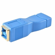 USB 3.0 Adapter Type A Female / Type B Female - Blue/Gold