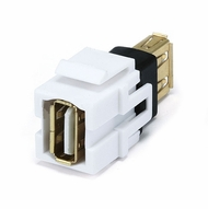 USB 2.0 Type A Female / Female Wall Plate Coupler Insert