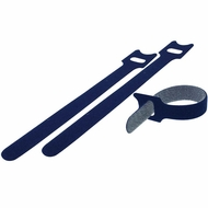 Velcro Cable Tie 0.48 x 9.5 inch (12 x 240mm), 10pcs/pack - Blue