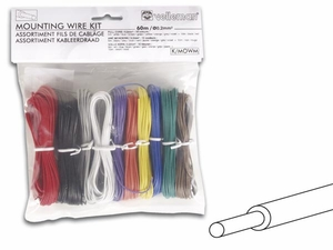Velleman Package of 24 AWG Solid Core Tinned Copper Wire - Assorted colors