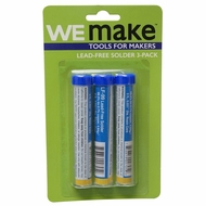 """WEmake Lead Free Solder with 5' Roll and 0.031"""" (3 Pack)"""