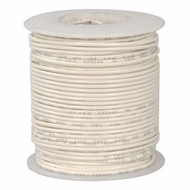 White 100 Foot 18 AWG stranded hook-up wire