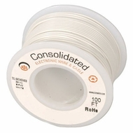 White 25 Foot 28 AWG stranded hook-up wire