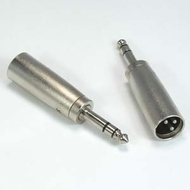 "XLR Male to 1/4"" Stereo Male Adapter"