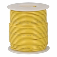 Yellow 100 Foot 18 AWG stranded hook-up wire