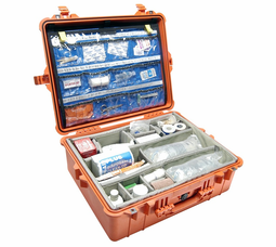 Pelican 1600EMS Case With Organizer/Dividers - Orange