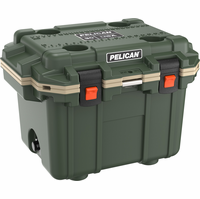 Pelican 30 Quart Cooler Green/Tan 30Q-ODTAN