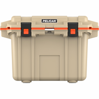 Pelican 50 Quart Cooler Tan/Orange 50Q-TANORG