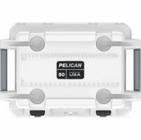 Pelican 50 Quart Cooler White/Gray 50Q-WHTGRY