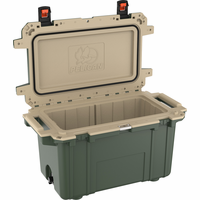 Pelican 70 Quart Cooler Green/Tan 70Q-GRN/TAN