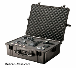 Pelican Case 1600 With Foam - BLACK