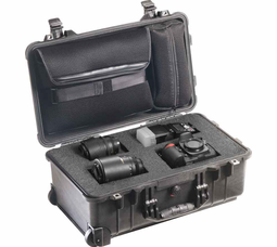 Pelican Mobile Digital Case with Sleeve & Foam - Black - 1510LFC