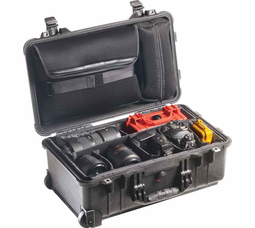 Pelican Studio Case with Sleeve & Dividers - Black - 1510SC