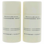 Cashmere Mist by Donna Karan, 2 x 1.7 oz Deodorant Anti-Perspirant Stick for Women