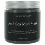 Dead Sea Mud Mask by Pure Body Naturals, 8.8 oz Skin Cleanser for Unisex