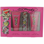 Ed Hardy by Christian Audigier, 3 Piece Gift Set for Women