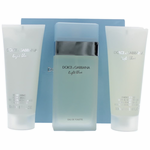Light Blue by Dolce & Gabbana, 3 Piece Gift Set for Women Travel