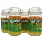 Skittles Scented Candle 4 Pack of 16 oz Triple Pour Jars - Sour Lemon/Lime/Orange