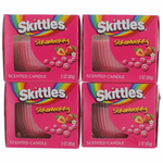 Skittles Scented Candle 4 Pack of 3 oz Jars - Strawberry