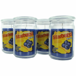 Starburst Scented Candle 4 Pack of 16 oz Jars - Blueberry