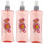 Sweet Primrose Kiss Fantasy by Body Fantasies, 3 Pack 8 oz Fragrance Body Spray for Women