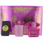 Versace Bright Crystal Absolu by Versace, 3 Piece Gift Set for Women