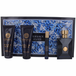 Versace Pour Homme Dylan Blue by Versace, 4 Piece Gift Set for Men