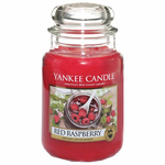 Yankee Candle Scented 22 oz Large Jar Candle - Red Raspberry