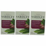 Yardley Naturally Moisturizing Bath Bar Cocoa Butter by Yardley of London, 3 x 4.25 oz Soap for Women