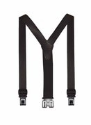 "1-1/2"" Black Leather Original Perry Suspenders-54"""