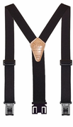 "1-1/2"" Black Original Perry Suspenders - 54"""