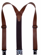"1-1/2"" Brown Leather Original Perry Suspenders-54"""