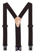 "1-1/2"" Brown Original Perry Suspenders - 48"""