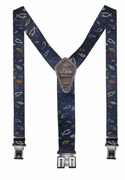 "1-1/2"" Christian Fish Perry Suspenders - 48"""