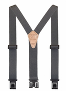 "1-1/2"" Gray Original Perry Suspenders - 48"""