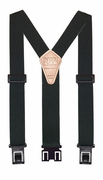 "1-1/2"" Hunter Green Original Perry Suspenders - 48"""