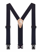 "1-1/2"" Navy Original Perry Suspenders - 54"""