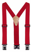 "1-1/2"" Red Original Perry Suspenders - 48"""