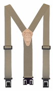 "1-1/2"" Tan Original Perry Suspenders - 54"""