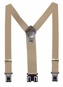 "1-3/8"" Beige Checkers Perry Suspenders-48"""