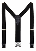 "1-3/8"" Black Checkers Perry Suspenders-48"""