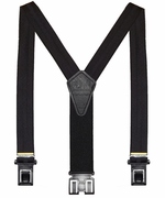 "1-3/8"" Black Club Stripe Original Perry Suspenders - 54"""