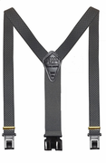 """1-3/8"""" Gray Checkers Perry Suspenders-48"""""""